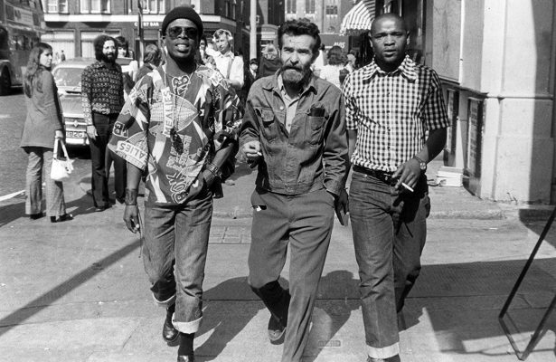 This is mid-1970s and these three boys have just changed the face of South African theatre. Wonder if they were aware of the historic nature of what they had done as they strolled down the street --- John Kani, Athol Fugard and Winston Ntshona