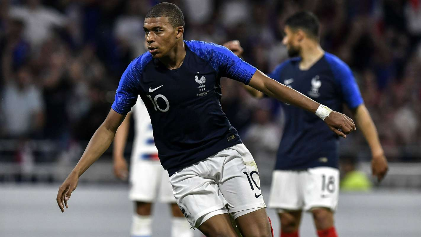 Kylian Mbappe, aged just 19 earlier this year when he led France to capture the Fifa World Cup trophy in Russia