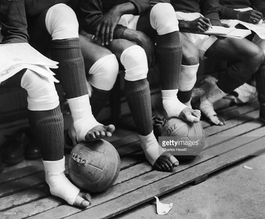 There were many 'oohs' and 'aahs' from spectators when the Nigerian players' bare feet came in contact with the tough leather ball but they didn't flinch