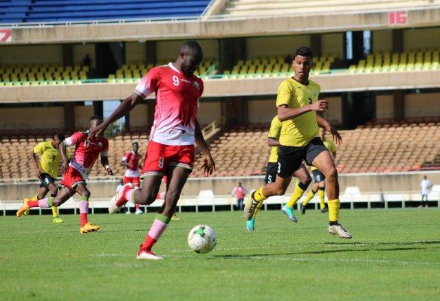 Kenya U23 during their emphatic 5-0 win over Mauritius at the Moi International Sports Center, Nairobi -- first leg tie