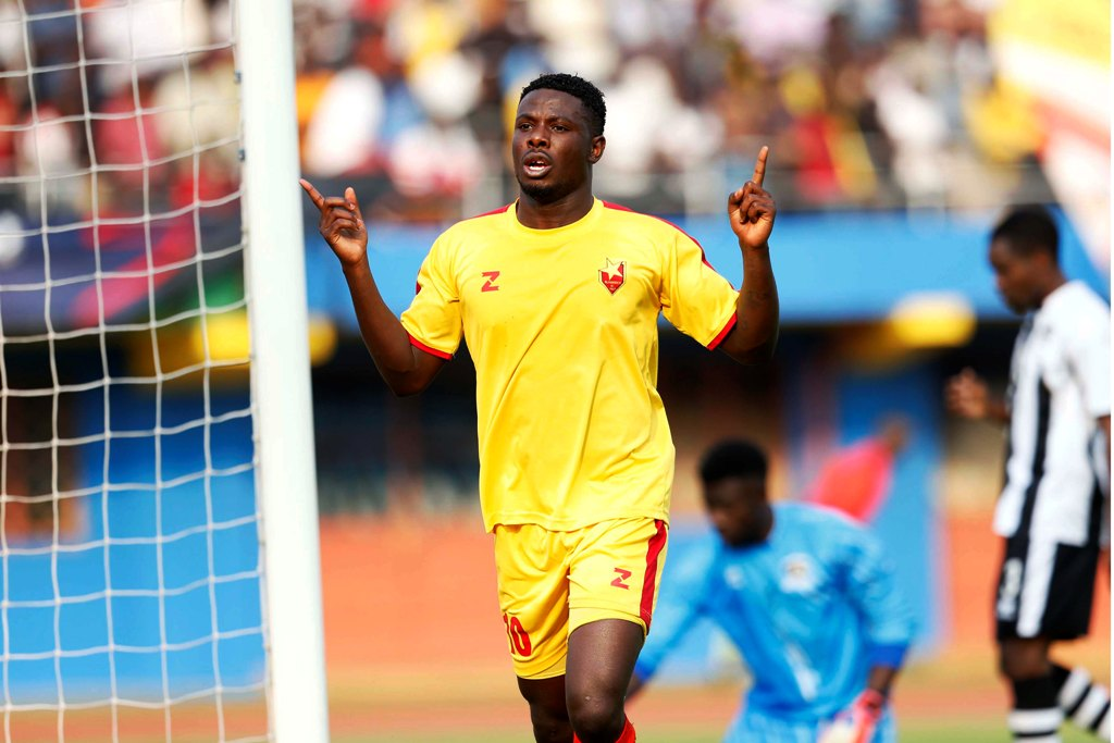 Allan Wanga of El Merreikh celebrates after scoring against APR during their Cecafa Kagame Club Cup Championship 2014 final at the Amahoro National Stadium in Kigali. As a Homeboyz player Wanga has taken over after match-fixing scandal involving previous coach Paul Nkata.