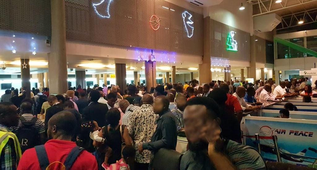 Busy terminal at King Shaka Zulu International Airport in Durban, KwaZulu Natal