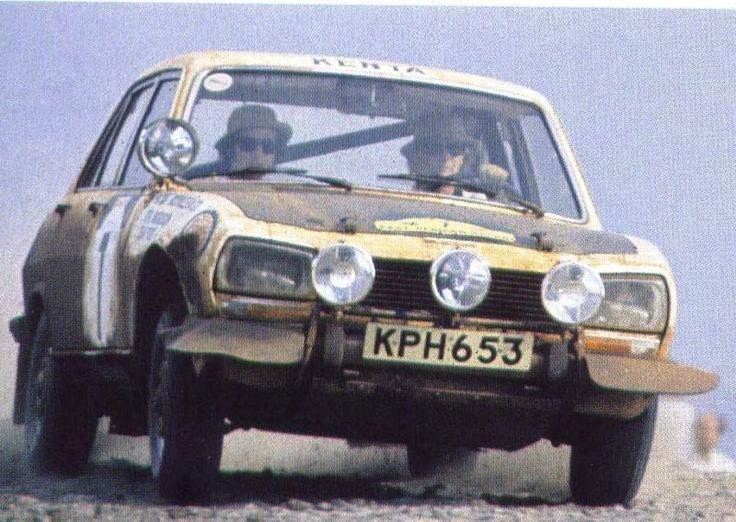 The Peugeot 504 of Ove Anderson who was navigated by Jean Todt, current FIA President, in the vintage East African Safari d ays