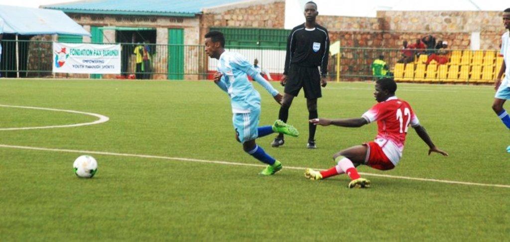 Kenya (right) against Somalia at Muyinga, Burundi during the 2017 Cecafa U17 Championship