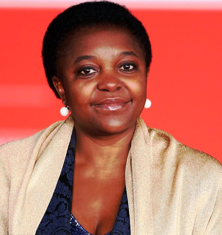 The text was inspired by the racist behavior experienced by Italian socialist MEP Cecile Kyenge (pictured), who served as Italy's first black government minister