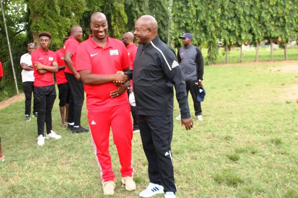 Pre-match, Burundi needed all the boost they could find and President Pierre Nkurunzisa (right) had high hopes