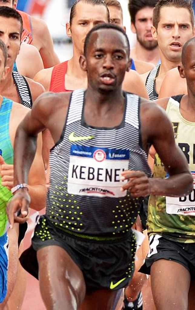 Nakuru County-born Stephen Kebenei running steeplechase at the Team USA 2016 Olympic Trials. He also made the world cross team