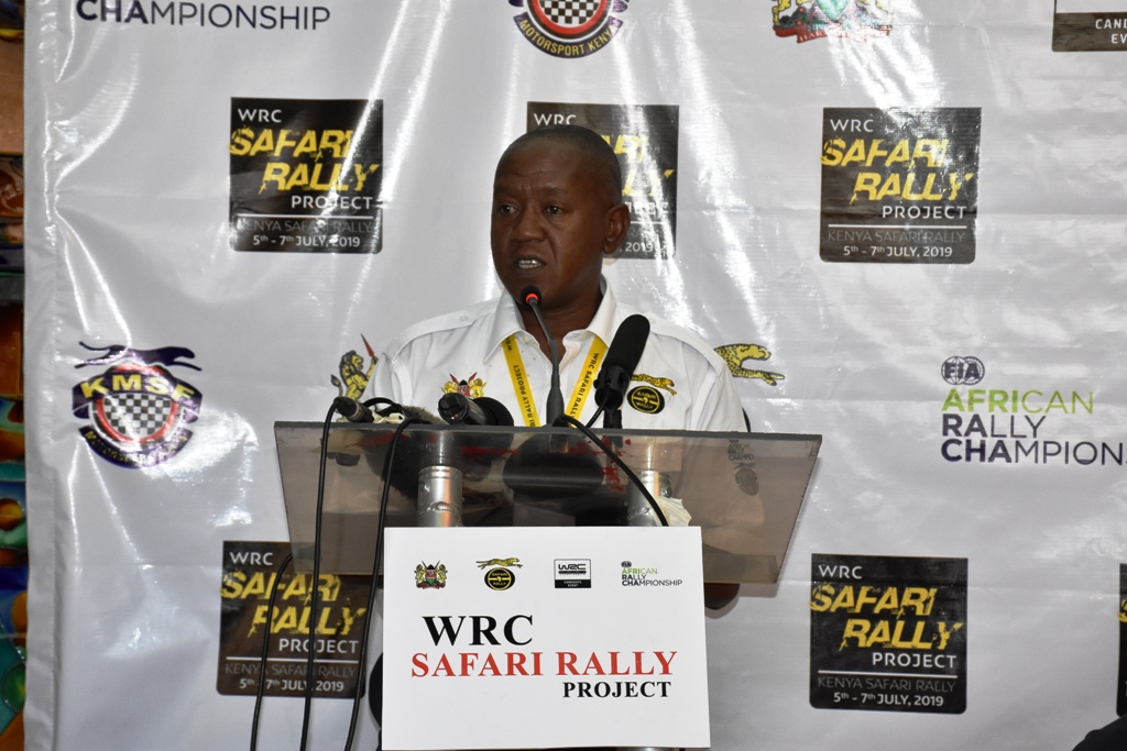 Phineas Kimathi, the President of the Kenya Motor Sports Foundation (KMSF) and chief executive officer WRC Safari Rally Project