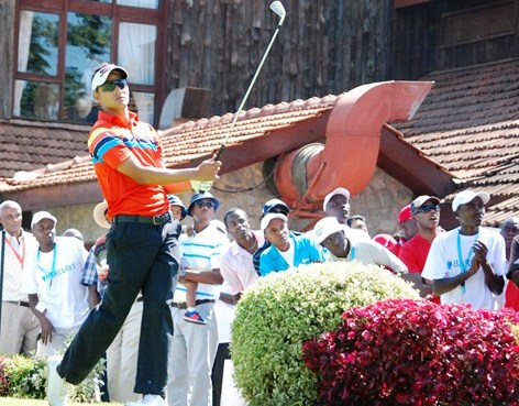 Greg Snow follows on during past Kenya Open play at Karen Country Club. He is one of the local frontrunners in this year's European Tour Kenya Open and a probable interested party in selection to the African Games team