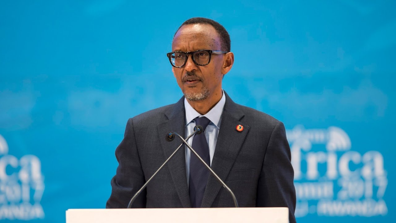 President Paul Kagame speaks at the 2017 Transform Africa Summit in Kigali