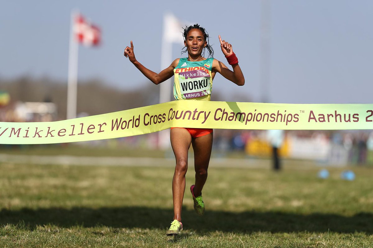 A storming final leg run from Fantu Worku in the mixed relay gave Ethiopia the first gold medal of the day at Aarhus