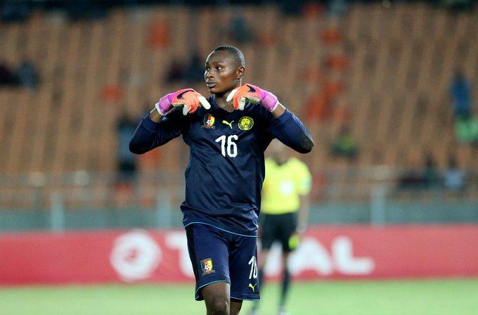Cameroon goalie Manfred Ekoi