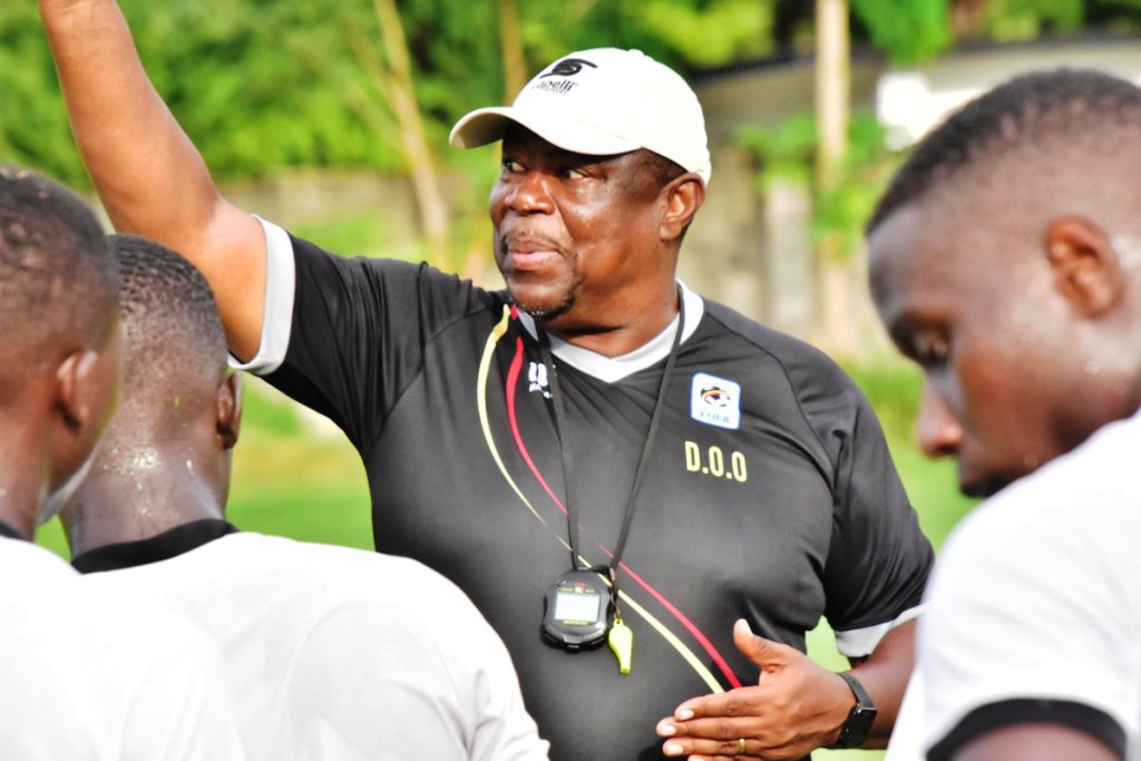Uganda U17 coach conducts training in Dar es Salaam on Thursday