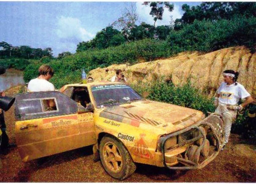 Michelle Mouton (right) and Fabrizia Pons with their Audi Quatro in the Safari heydays