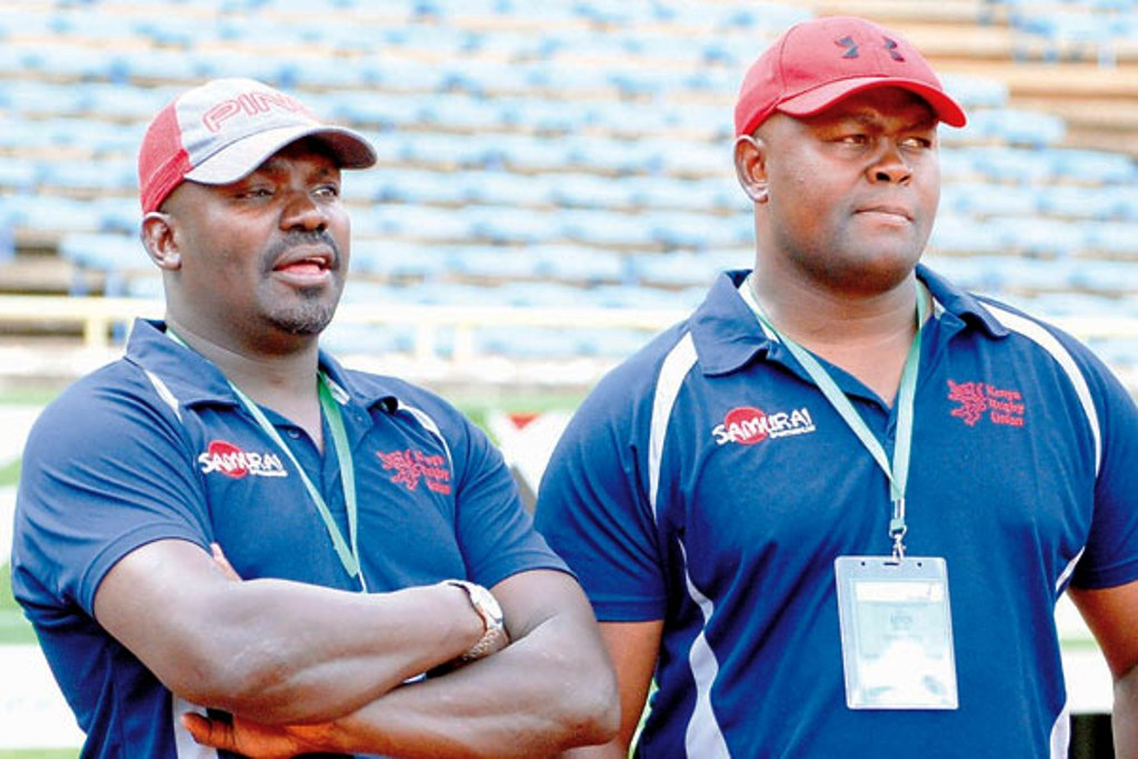 Benjamin Ayimba (left) and current coach Paul Murunga … difference in results