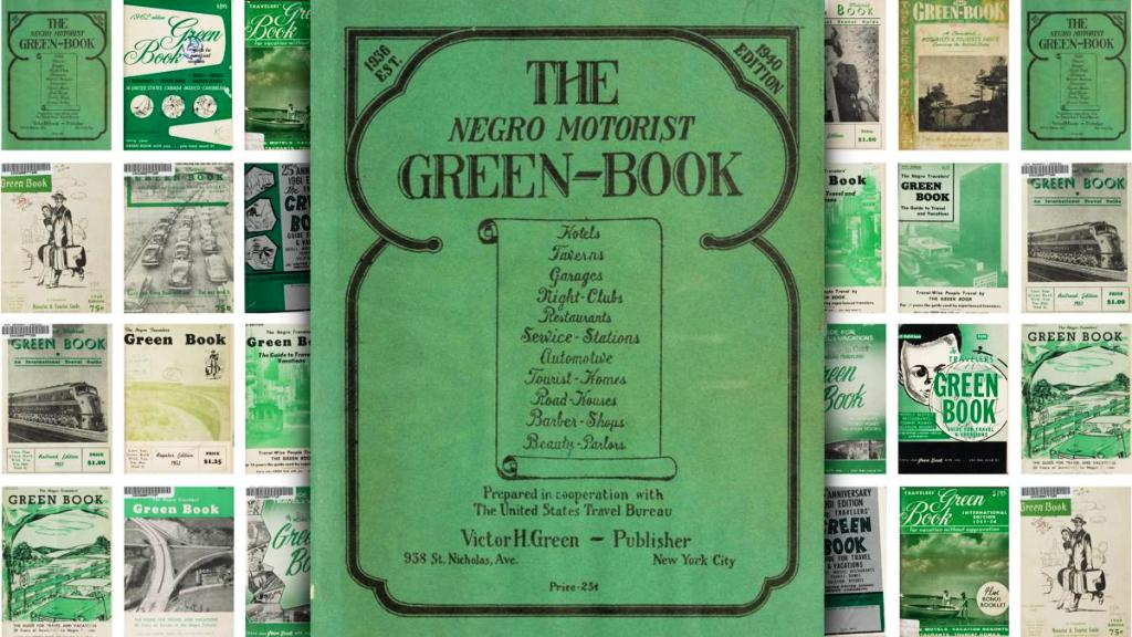 Victor H Green's 'The Green Book:, established in NY in 1936, available nationwide for Black citizens to avoid violence and enjoy themselves as they traveled the country