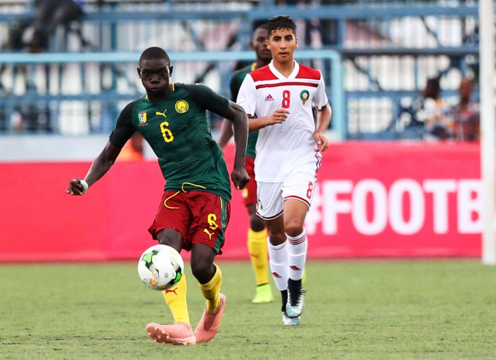 Cameroon (left) race towards 2019 U17 FIFA World Cup with victory over Morocco and semi-final place at the 2019 U17 AFCON at Chamazi