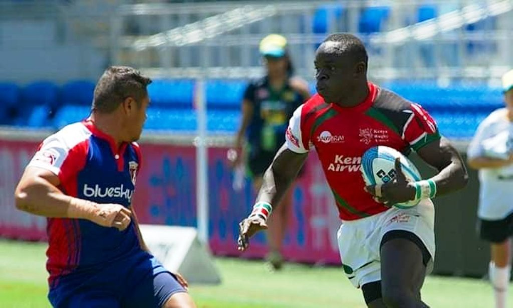 Jacob Ojee (right) among the new men captaining Kenya was prominent at Hamilton and Sydney 7s