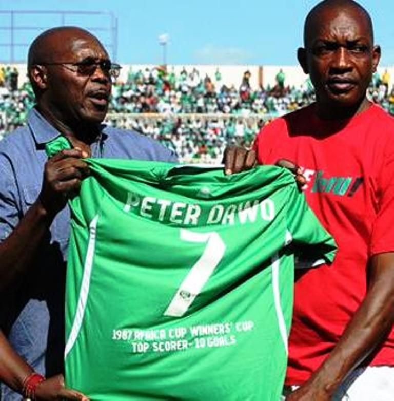 Gor Mahia chairman Ambrose Rachier (left) ... management trouble written all over face of the club