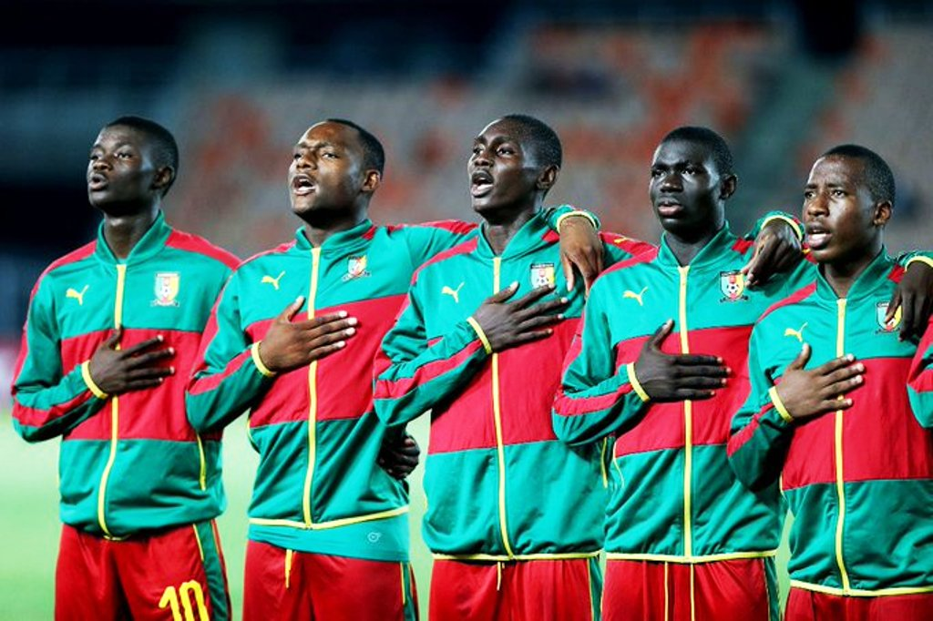Cameroon before kicking off against Angola at the National Stadium on Wednesday