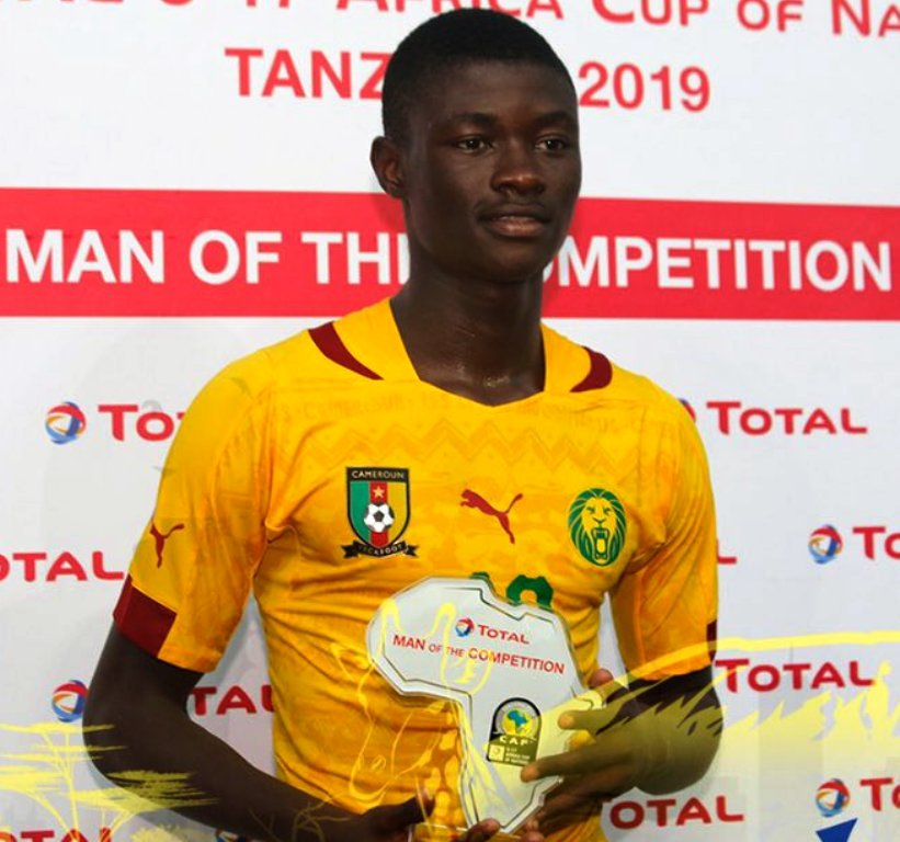 And the man-of-the-tournament award goes to Cameroon's Steve Regis Mvoue who plays at Azur Star de Yaounde