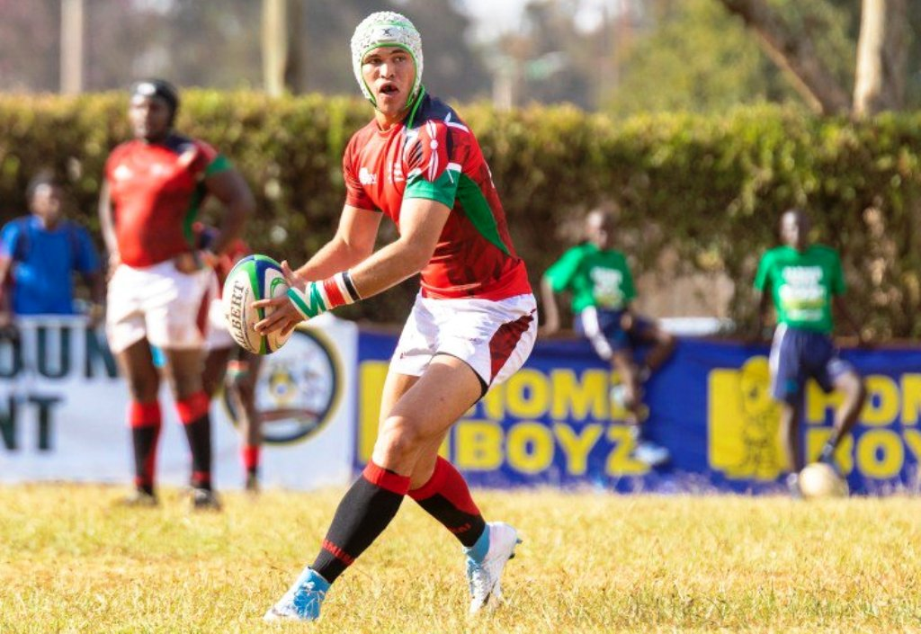 Kenya U20 stand-off half Michele Pier Paolo Brighetti in the Barthes Cup 2019 action
