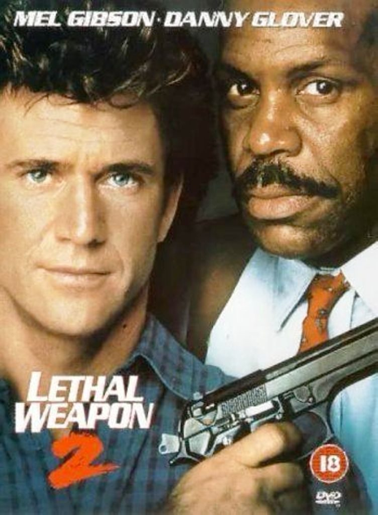 With Mel Gibson, Danny Glover in one of his best movies - 'Lethal Weapon'