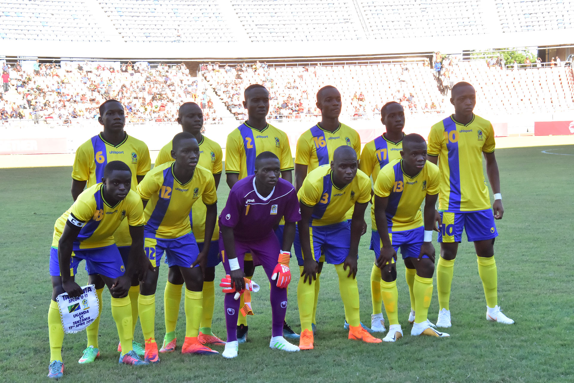 Hopes dashed ... after losing 0-3 to Uganda at the National Stadium on Wednesday, Serengeti Boys of Tanzania will not be going to the 2010 U17 FIFA World Cup