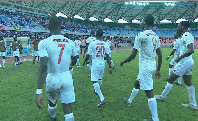 It's all over and the beaten Guinea march out of the National Stadium -- onward to the 2019 U17 FIFA World Cup in Brazil