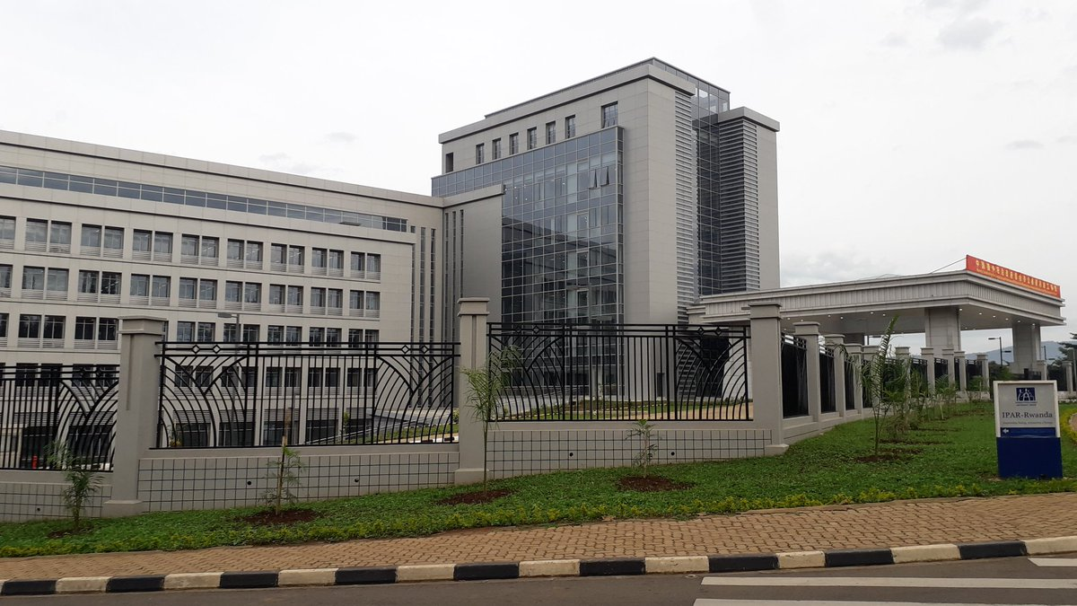 Top and above, the new office of the Rwanda Prime Minister in Kigali's central business district (Nyarugenge) built by the Chinese