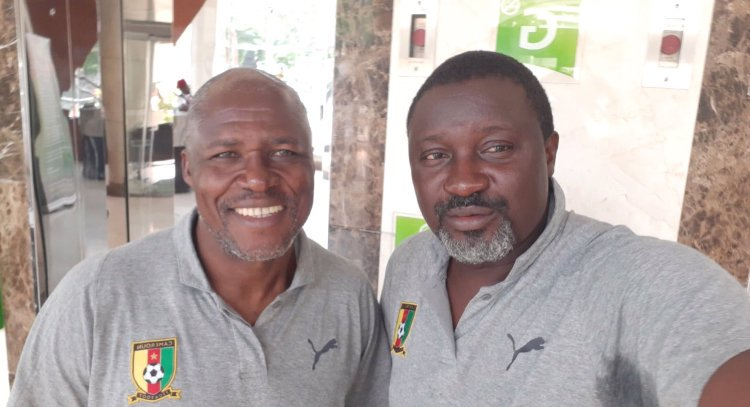 All set for the Final against Guinea at National Stadium, Dar es Salaam tomorrow…Cameroon U17 AFCON team's powerful managers: Coach Thomas Libiih (left) – Cameroon, Tonnere, Ohud Media and Portoviejo (Ecuador); Manager Luicien Mettomo – Cam, Tonnere, St Etiene, Man City, Kaiserslautern, Southampton