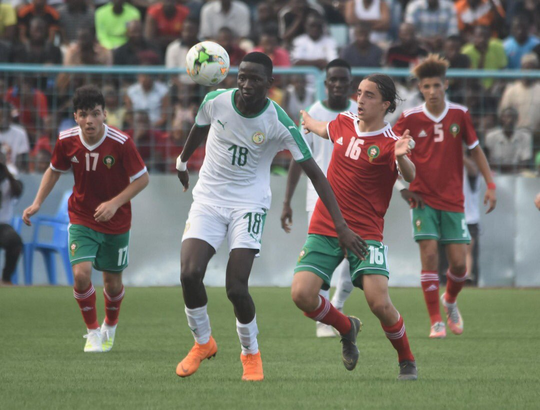 Morocco has possession against Tunisia in their 1-1 result at the AFCON U17 at Chamazi on Monday