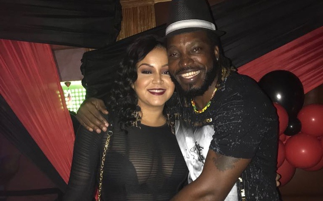 Chris Gayle with his wife Natasha. He likes a good party and owns a lively sports bar