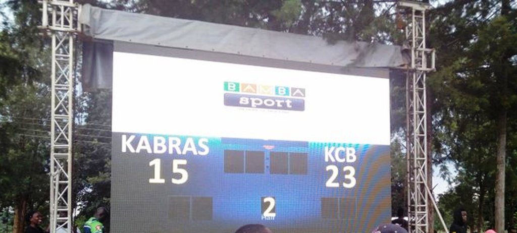 From BambaSport, the only thing showing 'live' was the scoreboard