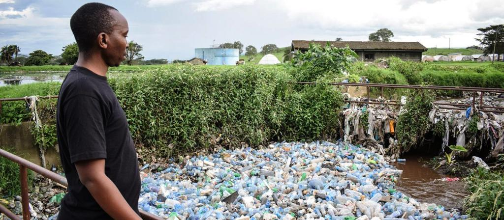 Horrific plastic bottles clogging of rivers and urban drainages in Kenya