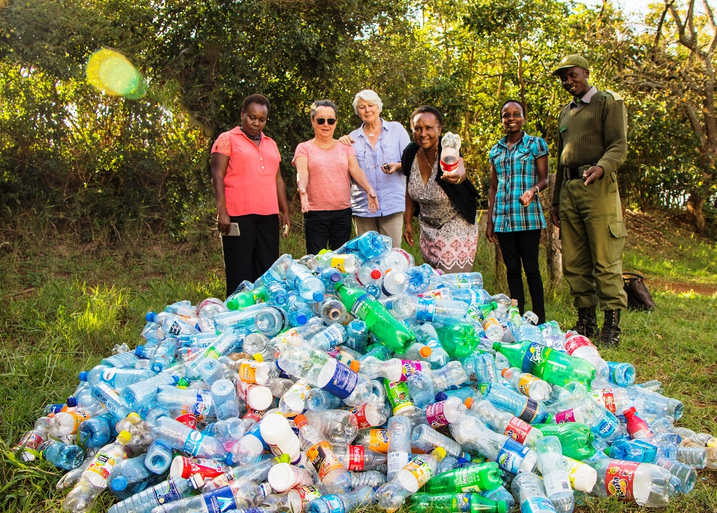 Volunteers and park rangers, after just a brief search of a section in Nairobi's Karura Forest, normally come up with heaps of plastic left behind by excursion groups