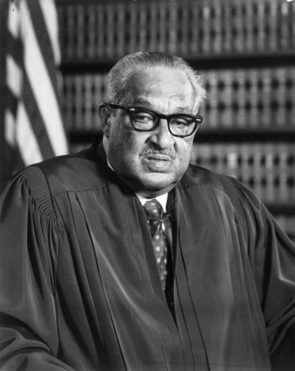 Thurgood Marshall, 1933 (Hoeard School of Law): First African-American United States Supreme Court justice