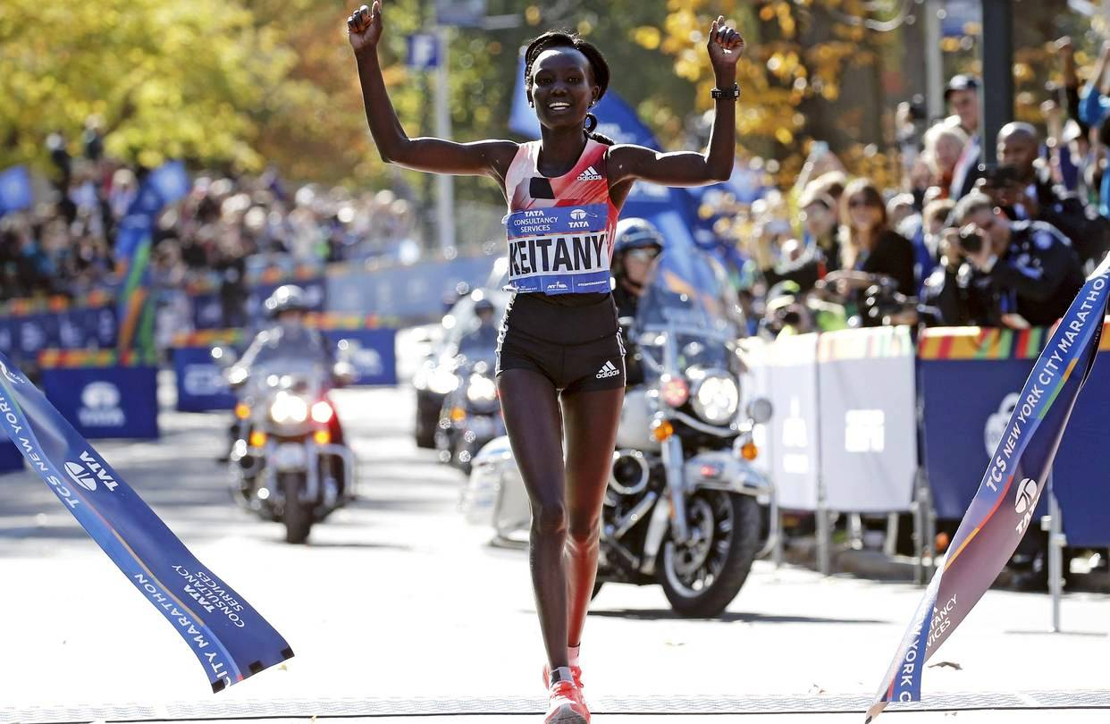 Mary Keitany wins her fourth New York Marathon title in 2018