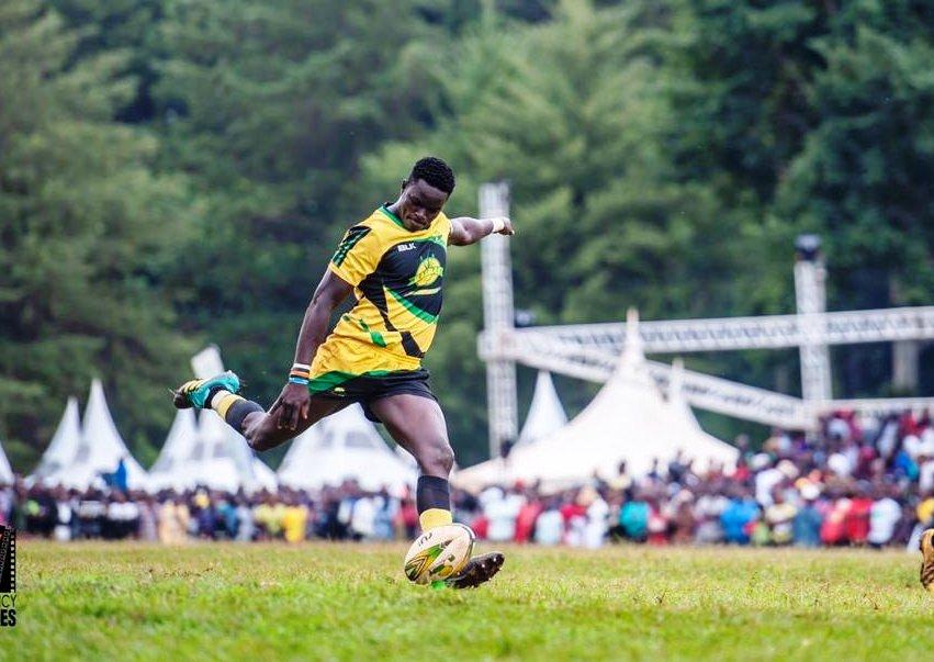 Uganda's star Philip Wokorach kicks for Kabras Sugar