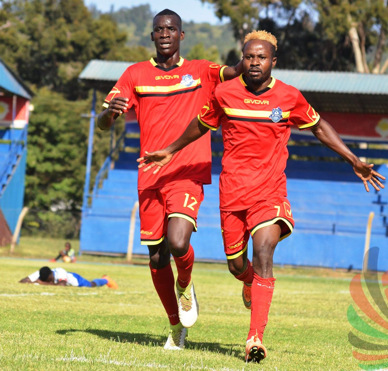 The doomed Mt Kenya United, here celebrating a rare win over AFC Leopards, managed only five victories before the relegation axe struck. The team lived from hand-to-mouth