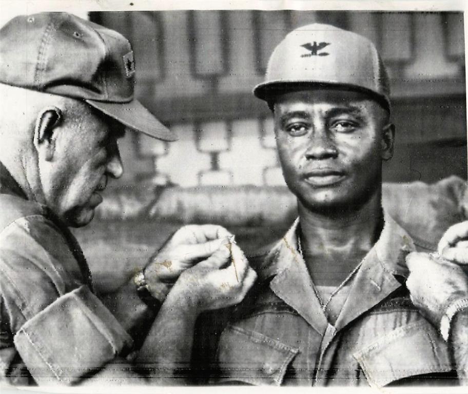 Frederic E Davison, right, Howard class of 1938: First US African-American Major General and Division Commander in the US Army