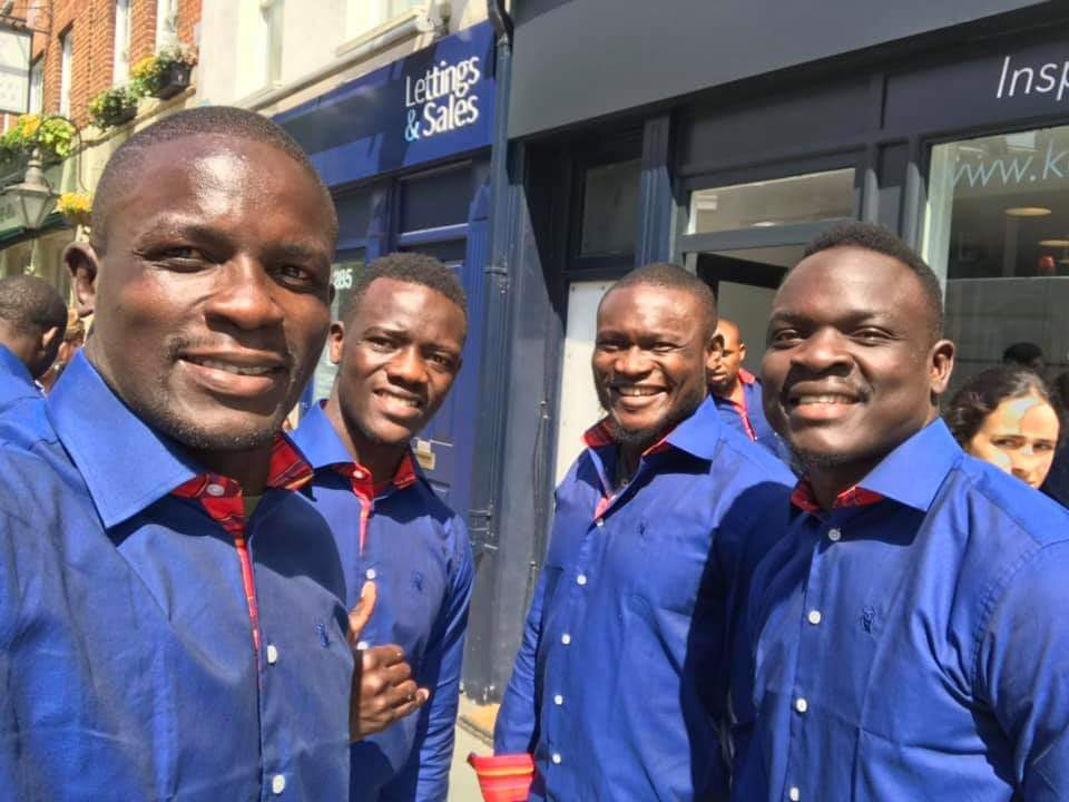 Kenya Sevens players on Friday before playing in London on the weekend