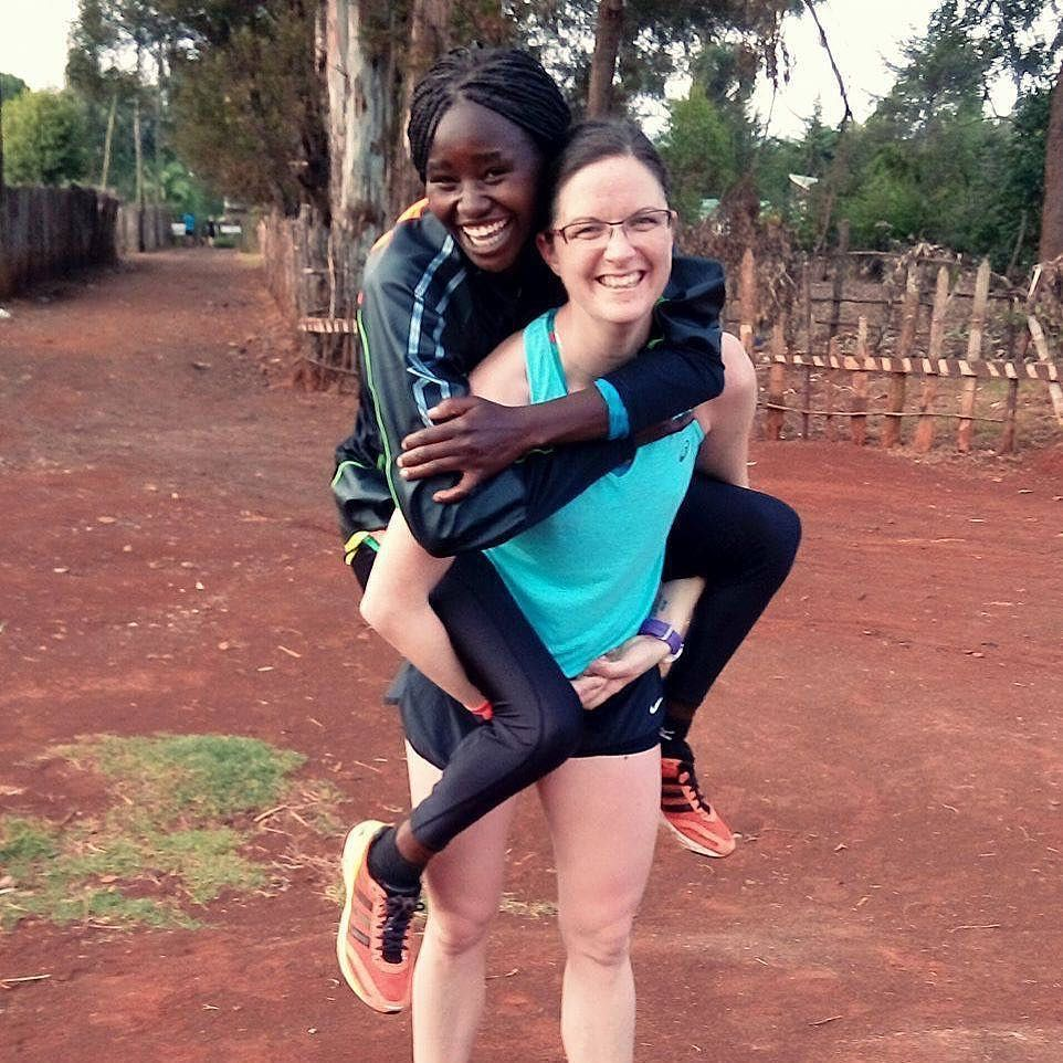 Four-time New York Marathon champion and three-time winner in London, Mary Keitany lives in Iten. She is a little 'pocket dynamo' easy weight for most people to offer a piggyback ride