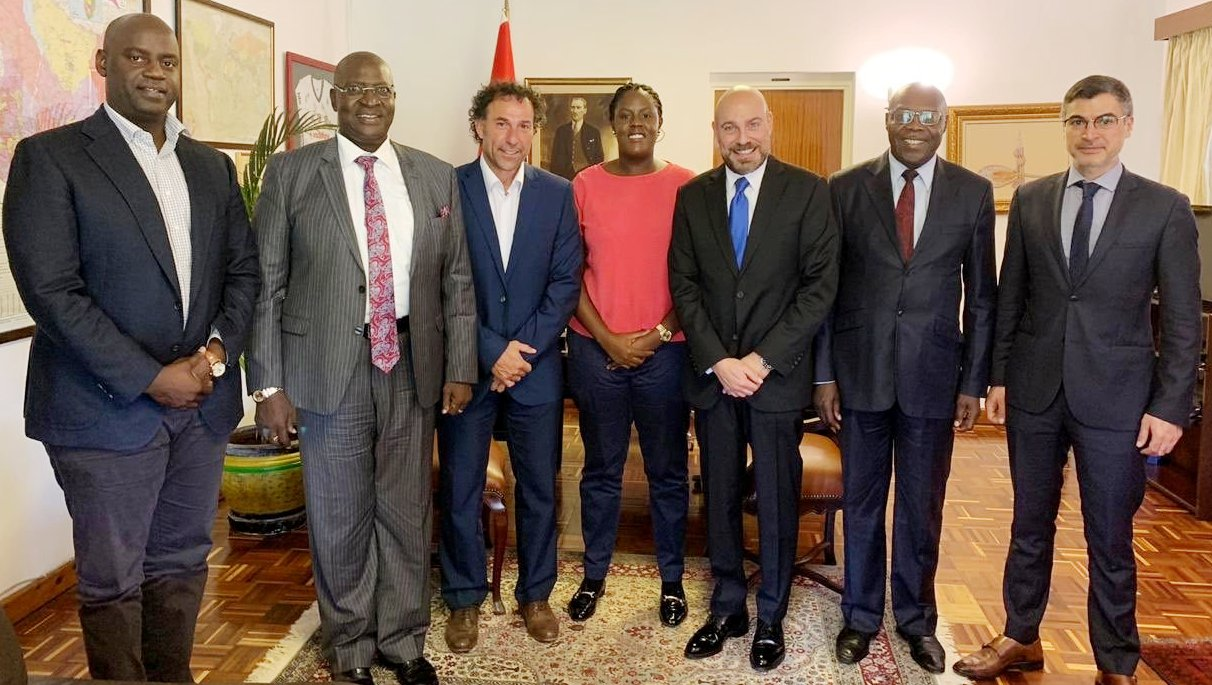This recent meeting in Kisumu may have augured well for the future of Gor Mahia. Winnie Odinga (centre), recently appointed as the club's public relations and communication manager was in possible sponsorship discussions with Turkish Airlines and embassy representatives alongside Gor benefactors and chairman Ambrose Rachier (second from left)