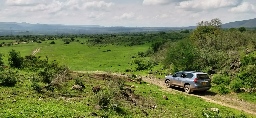 """Route planners map out scenic and suitable Safari Rally spectator points at """"Sleeping Warrior"""", above and Soysambu, below. Photos/ANWAR SIDI"""