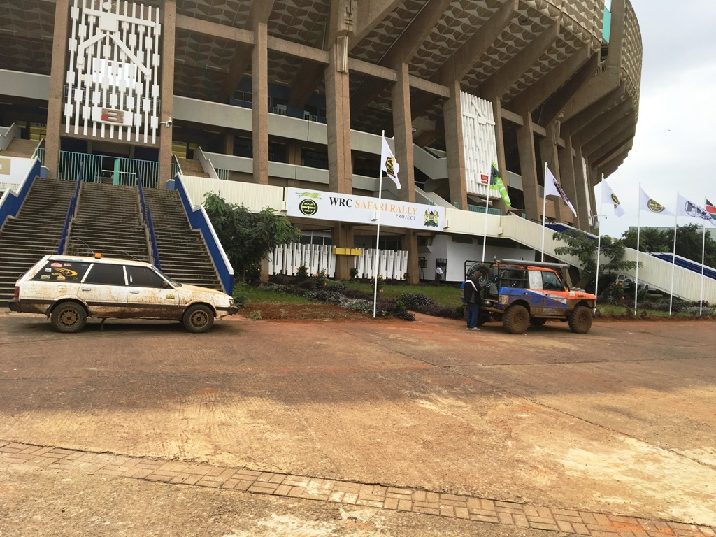 Friday morning, outside the WRC Safari Rally Project headquarters at Moi International Sports Centre, Nairobi. This year's Safari starts on July 5 with a 4.50 super special stage on the environs of the sports complex