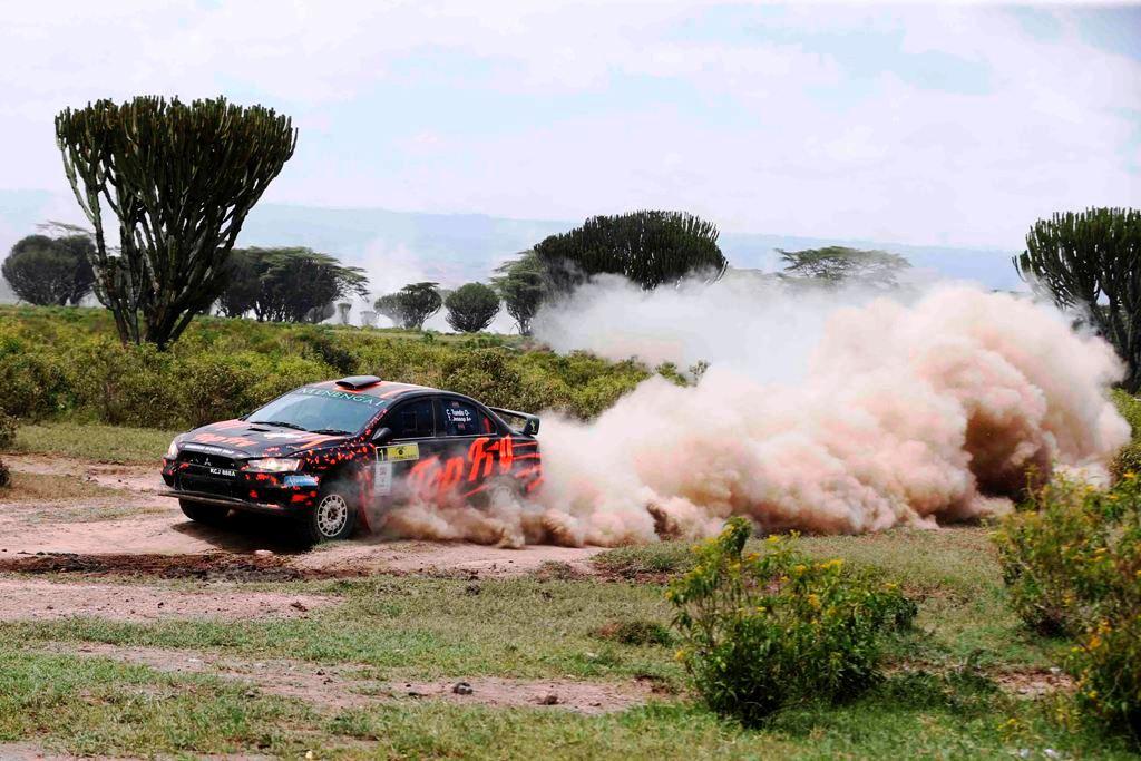 "Defending Safari Rally champion Carl ""Flash"" Tundo was dethroned by Baldev Chager"
