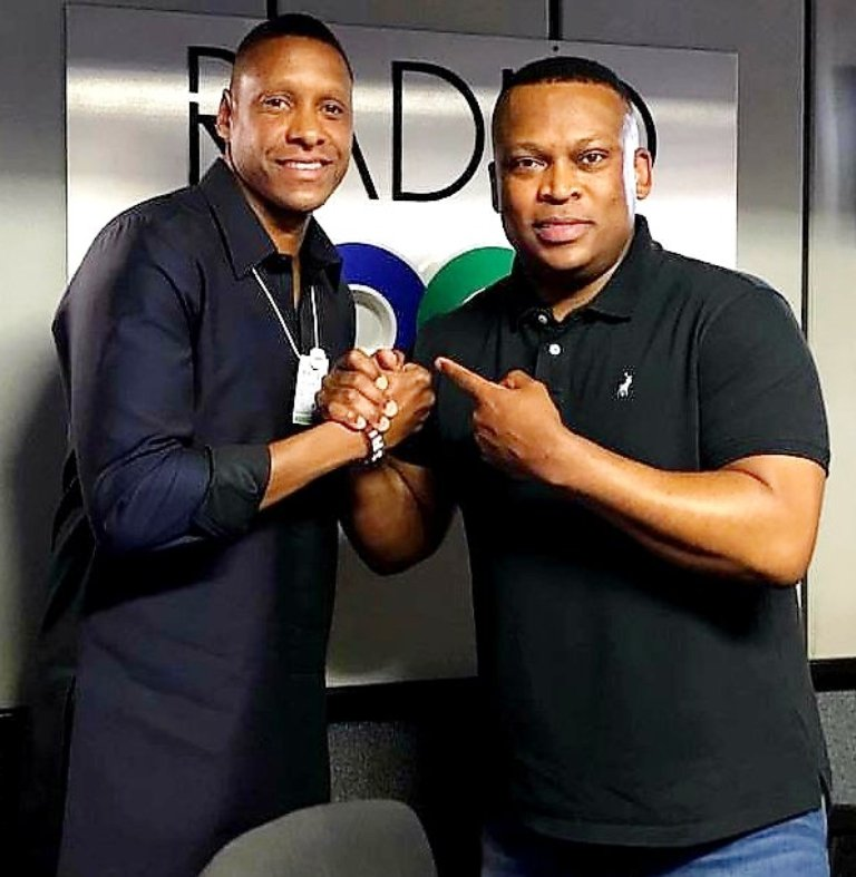 One of Africa's inspiration in the game of basketball is Maasai Ujiri (left), the Nigerian-born leader whose Canada's Toronto Raptors recently won the US NBA (National Basketball Association) title. Ujiri is with one of Africa's top sports broadcasters, Robert Marawa of South African Broadcasting Corporation (SABC)
