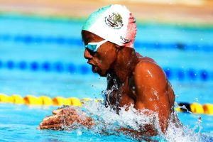 Samuel K Ndoga competes in 100m breaststroke during the KSF Age group Championship at Aquatic Centre Kasarani , February 25, 2018. Photo/Mohammed Amin