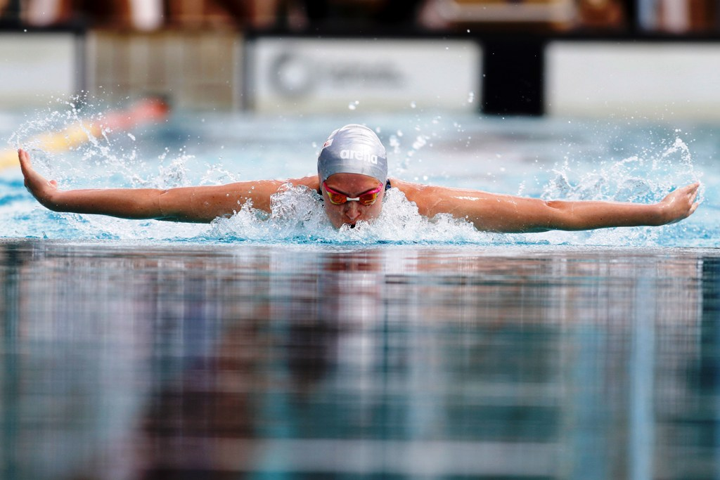 Thorpe Imara Bela competes in the girls 50 LC Breastsroke during the 2019 KSF Nationals Swimming Trials at the Kasarani aquatic Arena on Sunday April 14, 2019. Photo/MOHAMMED AMIN/www.SportsPot.com